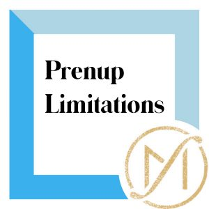 """blue border with """"prenup limitations"""" in black and the gold freed marcroft family law logo in the lower right hand corner"""