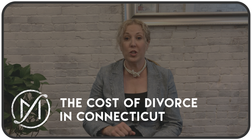 "Picture of Divorce Attorney Meghan Freed with the Freed Marcroft logo and the words ""The Cost of Divorce in Connecticut"""