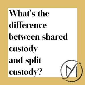 what's the difference between shared custody and split custody