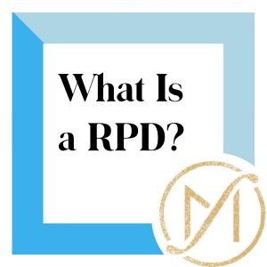 """Blue border with """"What Is a RPD?"""" in black lettering and the gold Freed Marcroft LLC divorce and family law attorneys logo in the lower right corner."""